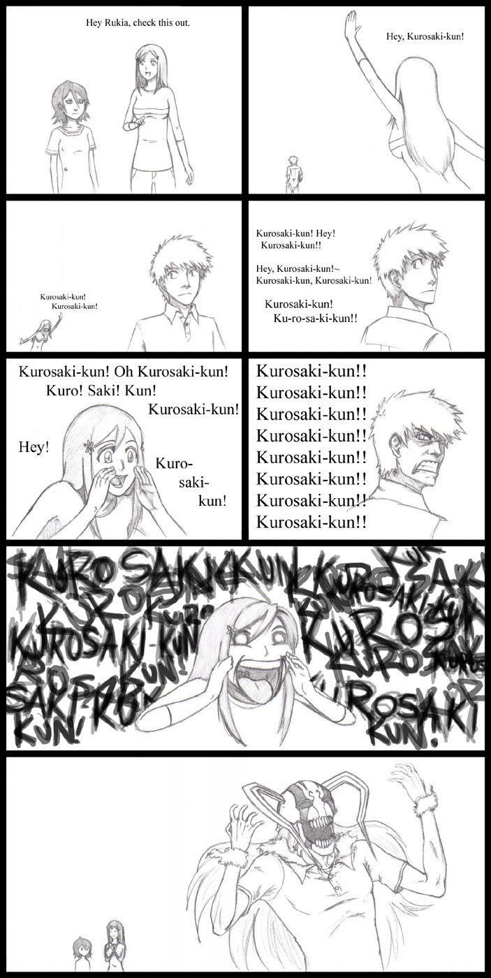 Kurosaki-kun. . Hey Rukia. check this out Hey! Hey, Storty! r It f Caste I, Kuro! Saki! Kim!