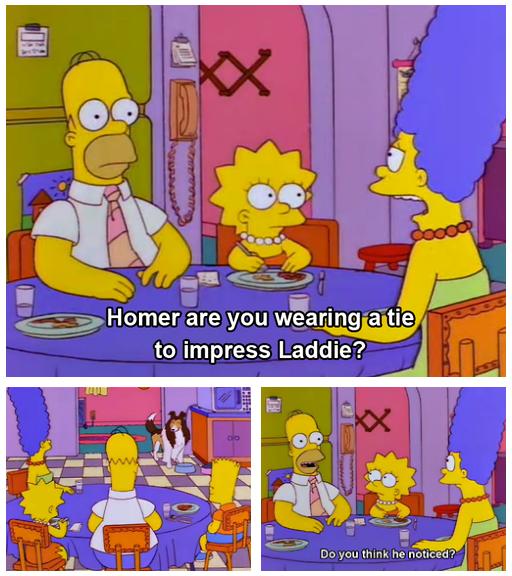 Laddie come home. Source: Lassie: An XXX Parody.