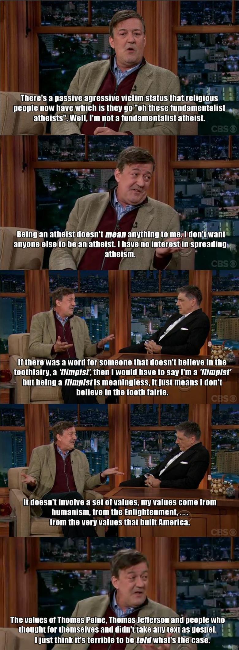 "Ladies and Gentlemen, Stephen Fry. . Theres a Cassius SHINE that HEW ttake WHICH IS they Ell] "" CHESE ' . tatt HIDEKI tta HIE. I ' t ENE tta HE an atheist. I Mt"