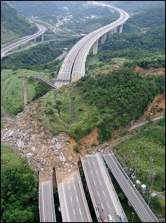Land Slide. Happened in Japan few weeks ago.. well o fuc i got a presentation in 1 minute