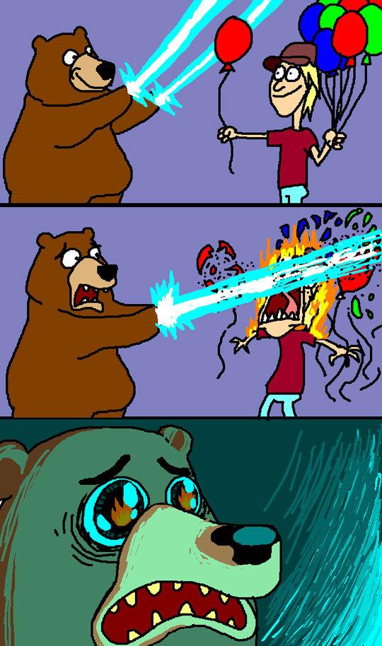 Laser Bear :3. .. Since when does Pedobear have lazers?...