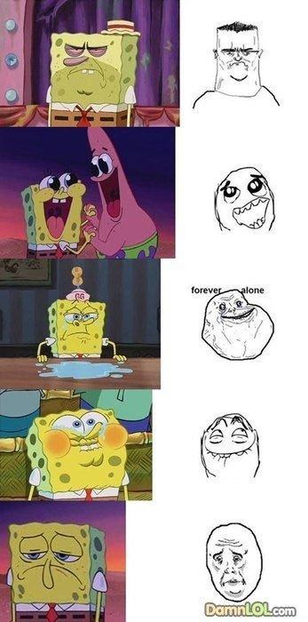 le spongebob memes. .. >le
