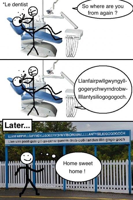 Legit. Sharing the funny.. Llanfairpwllgwyngyll-. yeah......Wales