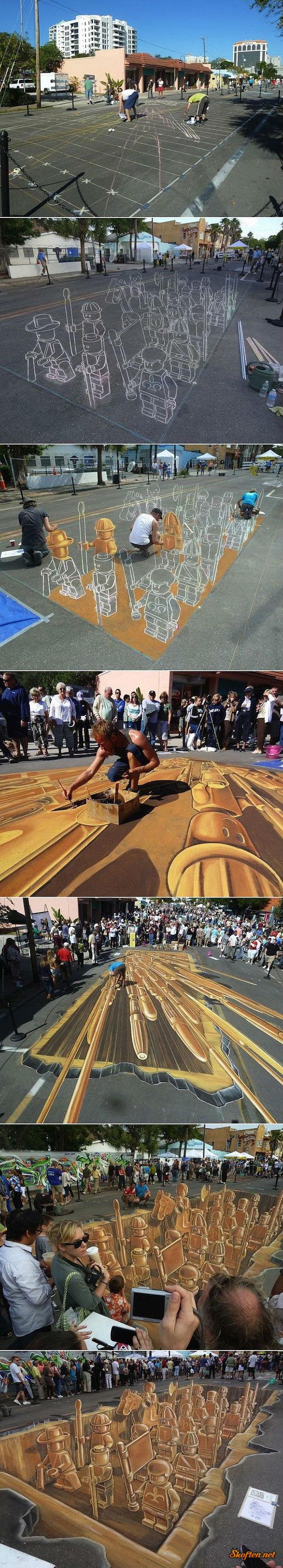 lego sidewalk drawing. .. Lego sidwalk art, you say? Closeenough.jpg