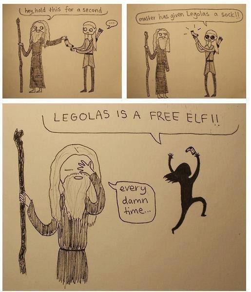 Legolas Is A Free Elf. .