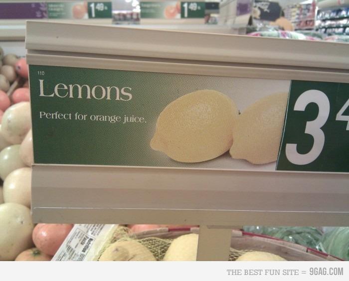 lemons. .
