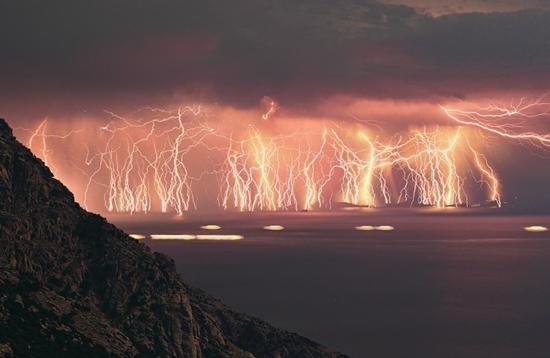 Lightning Shots. .. That'll teach you to wave at me ocean interesting lightning Shots