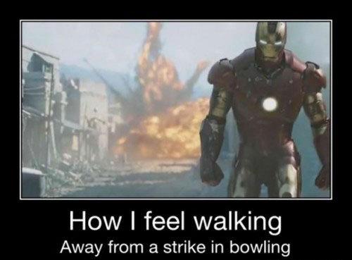 Like a Boss!. . How I feel walking Away from a strike in bowling