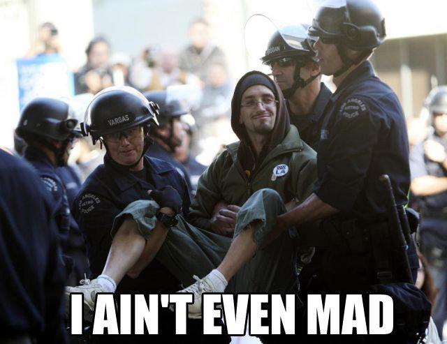 Like a boss. .. Go ahead, arrest me! icky rainbow puk