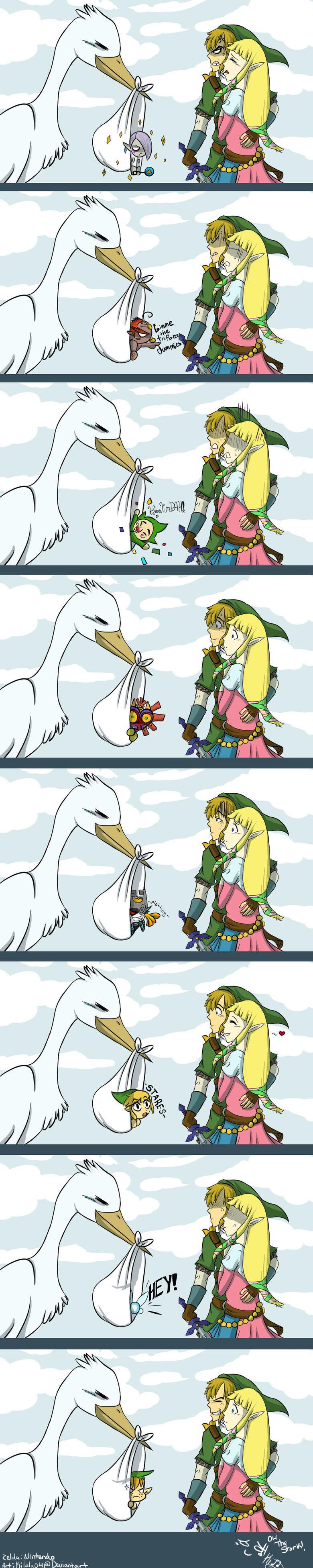 Link and Zelda. Found it on DeviantsArt.. Have fun