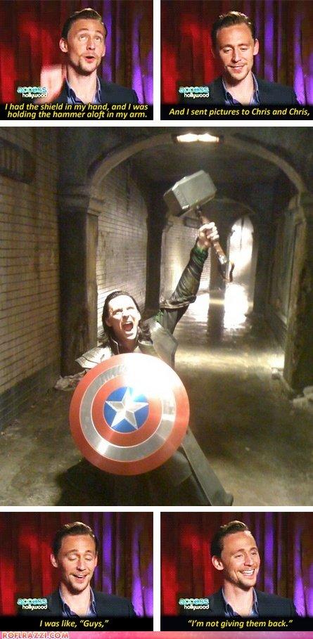 "Loki is acting again. . J a t re 5 opel Nil?) harm, prndl Wm . Heidie iii) thairs like, ""Guys,"" ""f' ? them brack,"". This is what Chris sent back"