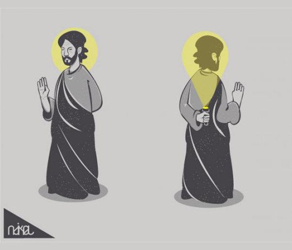 Lol Jesus. .. JESUS MADE LIGHT STOP MIDAIR! WOW ANOTHER MIRACLE! Jesus flashlight