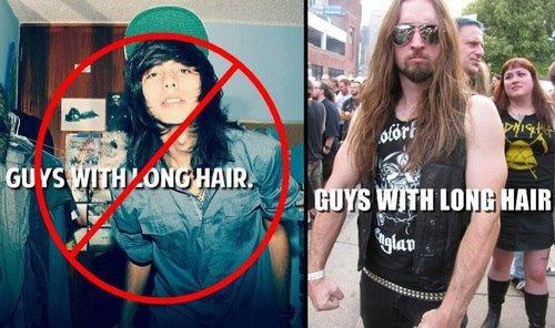 long hair. .