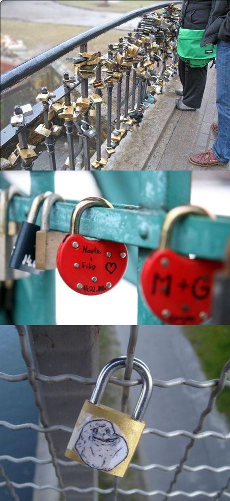love bridge. from imgure made me laugh soooo hard.