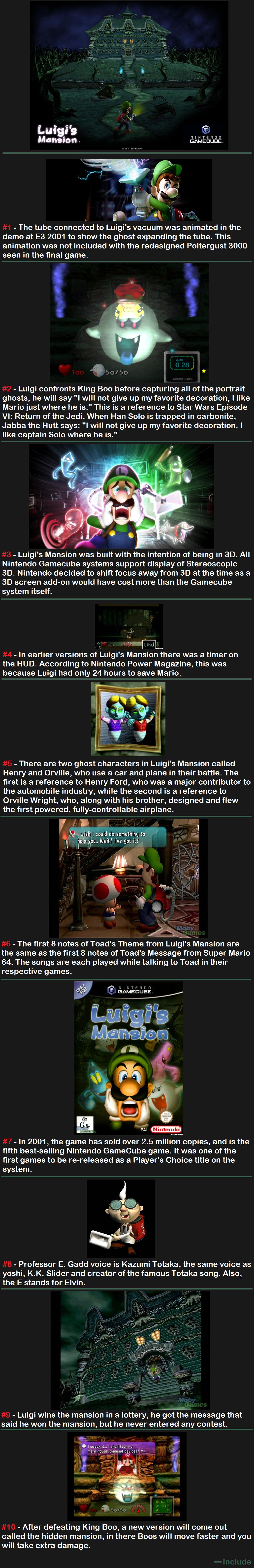 Luigi's Mansion. Dead space - www.funnyjunk.com/channel/comp-channel/Dead+Space/jnBMLwa/ Super Mario Sunshine - www.funnyjunk.com/channel/comp-channel/Super+Mar