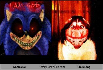 M0RB1D T0T4LLY L00KS L1K3. sonic.exe vs. smile dog. morbid Sonic smile dog