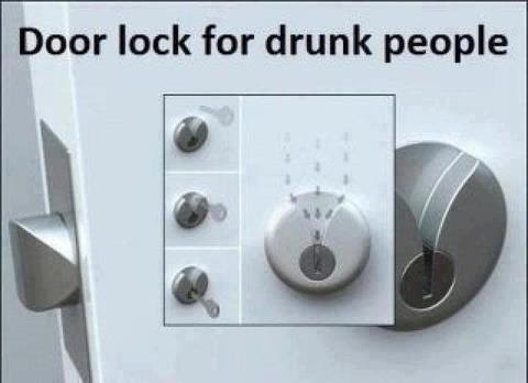 MUST GET. . Door lock far drunk people