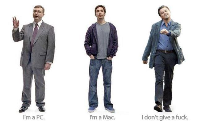 mac pc. mac and pc. I' m a PC. I' m a Mac. ddont give .. Oh my g- he's Linux! im a mac im a pc