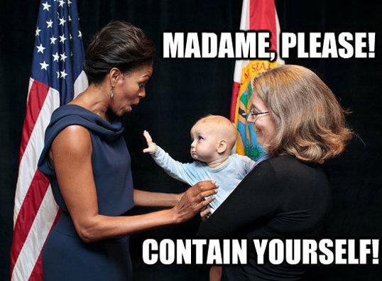 Madame, please. .