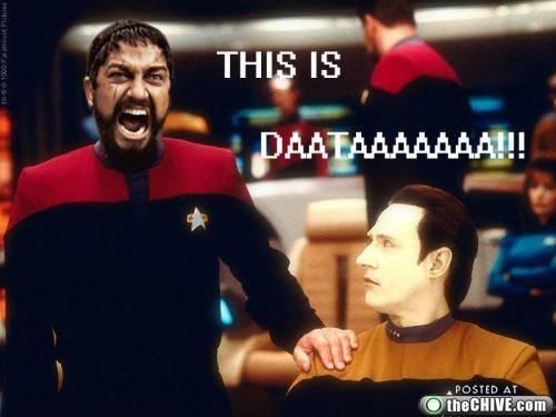 MADNESS. .. It's pronounced data...