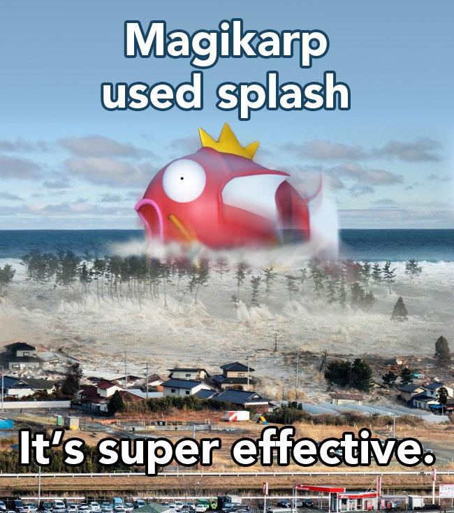Magikarp's revenge. I haven't seen it, it's new to me.. magikarp splash super effective