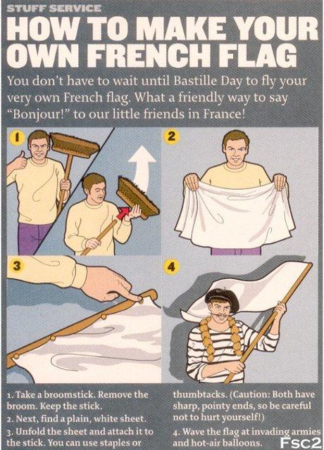 Make your own french flag. ;). STUFF . Lt% HOW TO MAKE YOUR lrlrl MINI tn wait until [Iraq to allt w, ntn little friends in I-' 1'; tnr: e! 7 tas- 1. Ta he -.1