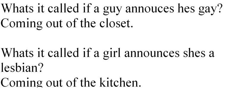 "Makes Sense. . out of tlu, closet. he) silvia, orw'""?. true.. true:) Gay kitchen"