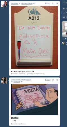 Makin out. Coincidences on Tumblr make me wonder.