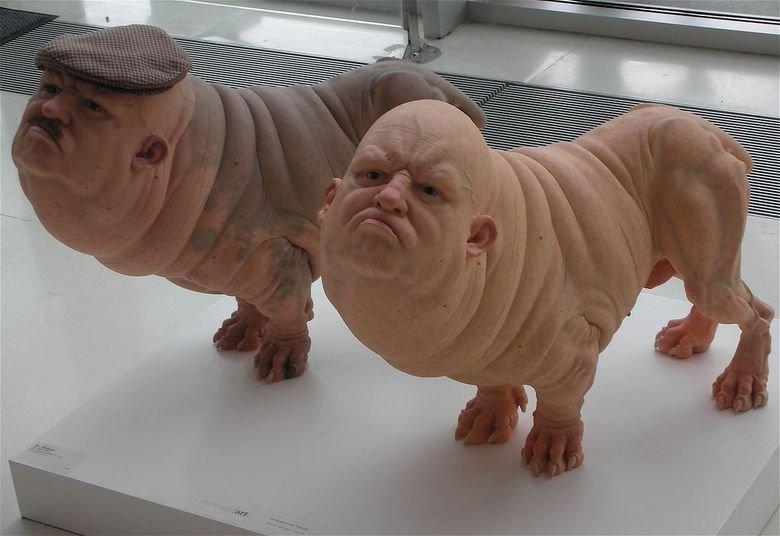 Image result for Pig man dog