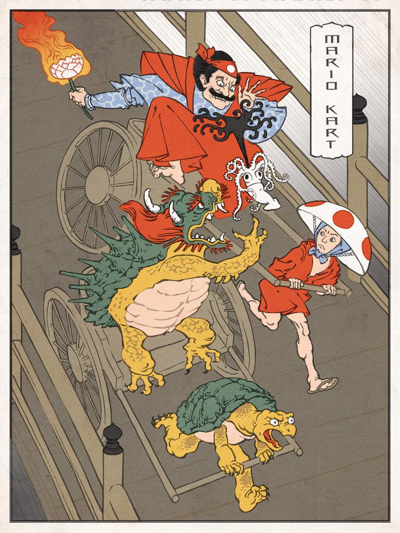 Mario Cart. Japanese Style.. duh... potatoes The Game