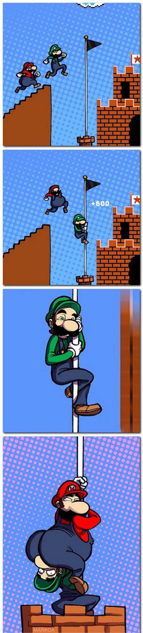 mario & luigi. Super Mario Bros. (スーパーマリオブラザーズ Sūpā Mario Burazāzu?) is a 1985 platform video game internally developed by Nintendo EAD and published by Nintend