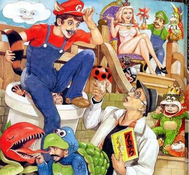 Mario on shrooms. More alternate art here!===>alternateartlives.blogspot.com/.