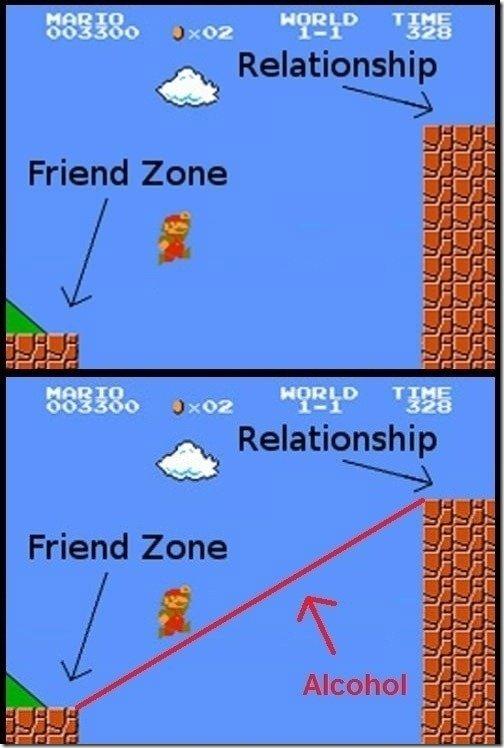 Mario's alpha. never gets friendzoned. R I ti hi Friend Zone