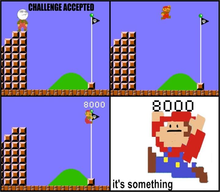 Mario. . BEBE. flagpole.