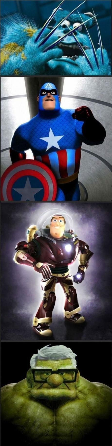 Marvel + Pixar. Avengers Assemble The Musical.