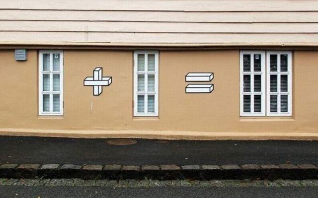 Math...math everywhere. even on houses.. 1 + 1 = WINDOW LIEK IF U R TRU 90'S KIDZ I CRI EVERTIM