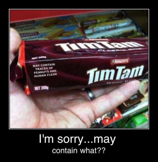 """May contain...... .. """"may"""" peanuts"""