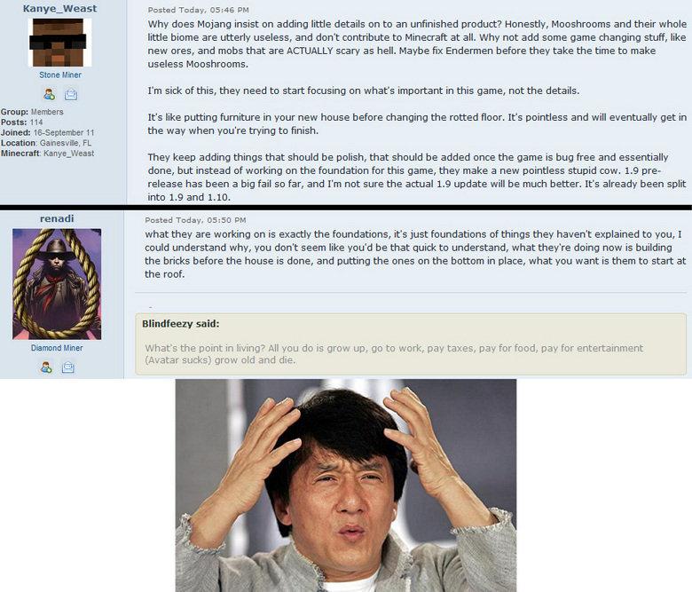 mc community logic. I swear that forum is full of retards....