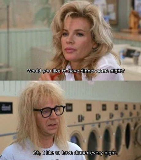 """Me too, Garth. . like tut: h we. """"can i be frank?"""" """"ok, can i still be garth?"""""""
