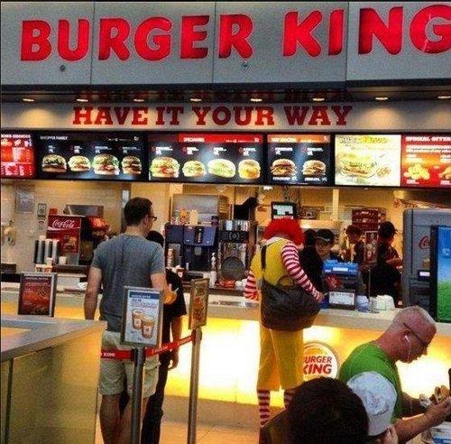Meanwhile at Burger King. .