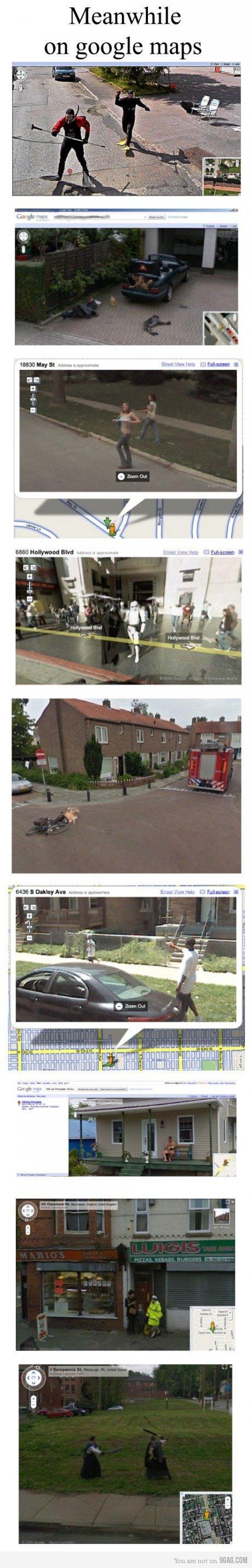 Meanwhile in google maps.. 110% oc. True story.. Meanwhile Eil, HUI I Eh r. igtg. trololol funny lol Google maps fail