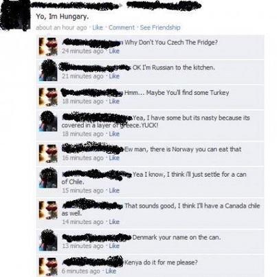 Meanwhile, on Facebook. ..... curred In Adop Tta, an Hungary. ifthat, Pi. Tce. ieye. arn 'Lie enev,, aci, , tatse mini. LA Te' ilya 3:: an the Fl risist. ti. ga facebook lol WTF Stupid haha