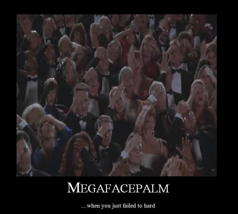 Megafacepalm. . yoa: oost failed to hard. RIP Leslie Nielsen