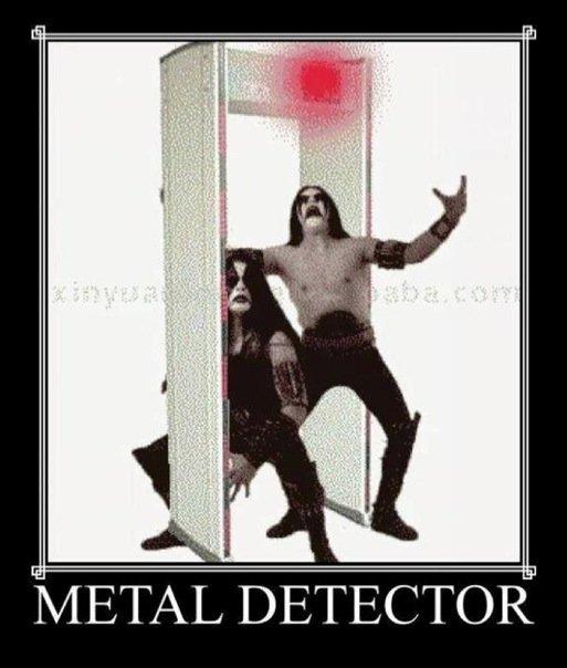 metal detector. .