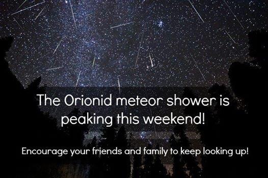 Meteor Shower. More info: www.space.com/23251-orionid-meteor-shower-peak-weekend.html Photo via: Brad Goldpaint - Goldpaint Photography. The meteor shower is pe