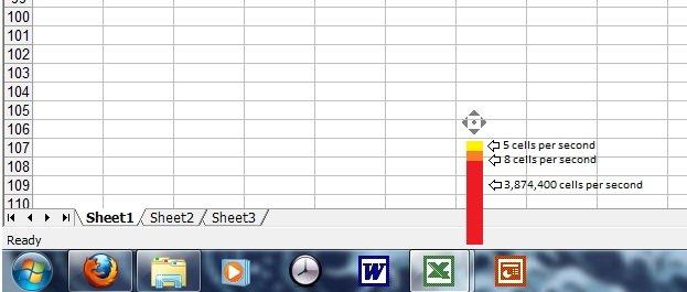Microsoft Excel Scrolling Speeds. .