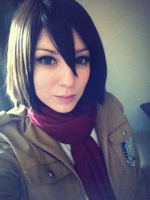 Mikasa Cosplay. source .. is actually eren