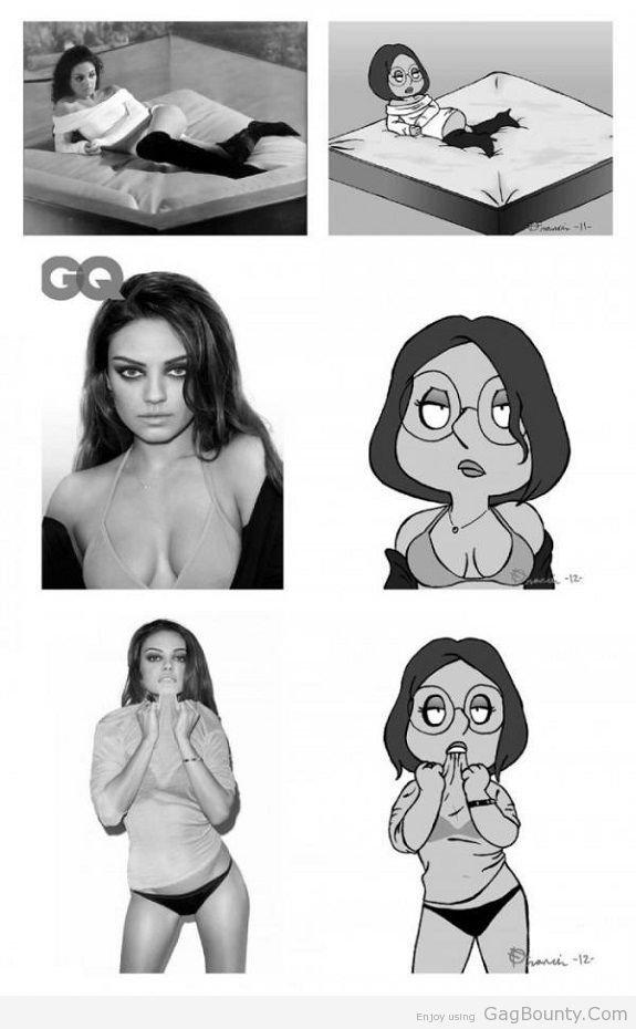 Mila Kunis Vs Meg Griffin. .. oddly enough id both