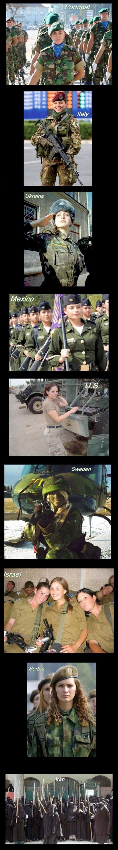 Military Women. .