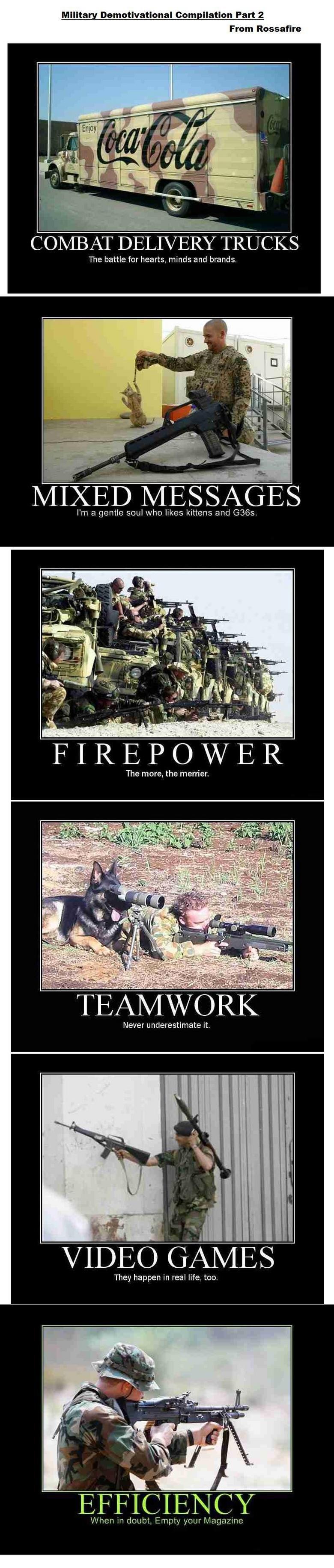 Military Demotivational Compilation 2. More military demotivators<br /> Part 1: www.funnyjunk.com/funny_pictures/714394/Military+Demotivational+Compilatio Military